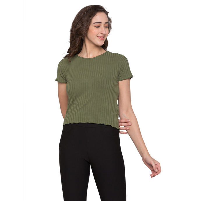 Globus Olive Striped Top1