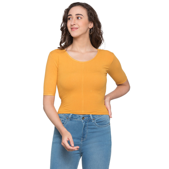 Globus Mustard Striped Top1