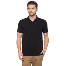 Load image into Gallery viewer, Globus Black Solid Polo T-Shirt1