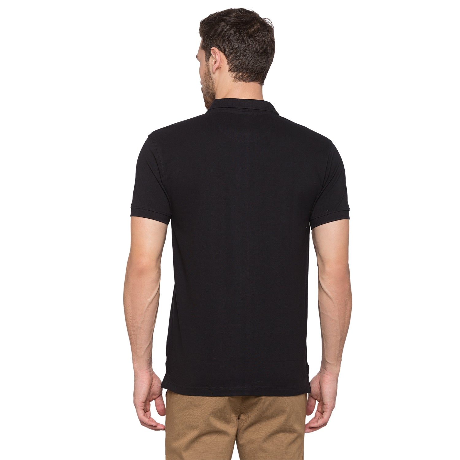 Globus Black Solid Polo T-Shirt3
