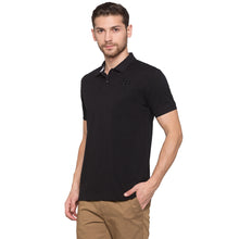 Load image into Gallery viewer, Globus Black Solid Polo T-Shirt2