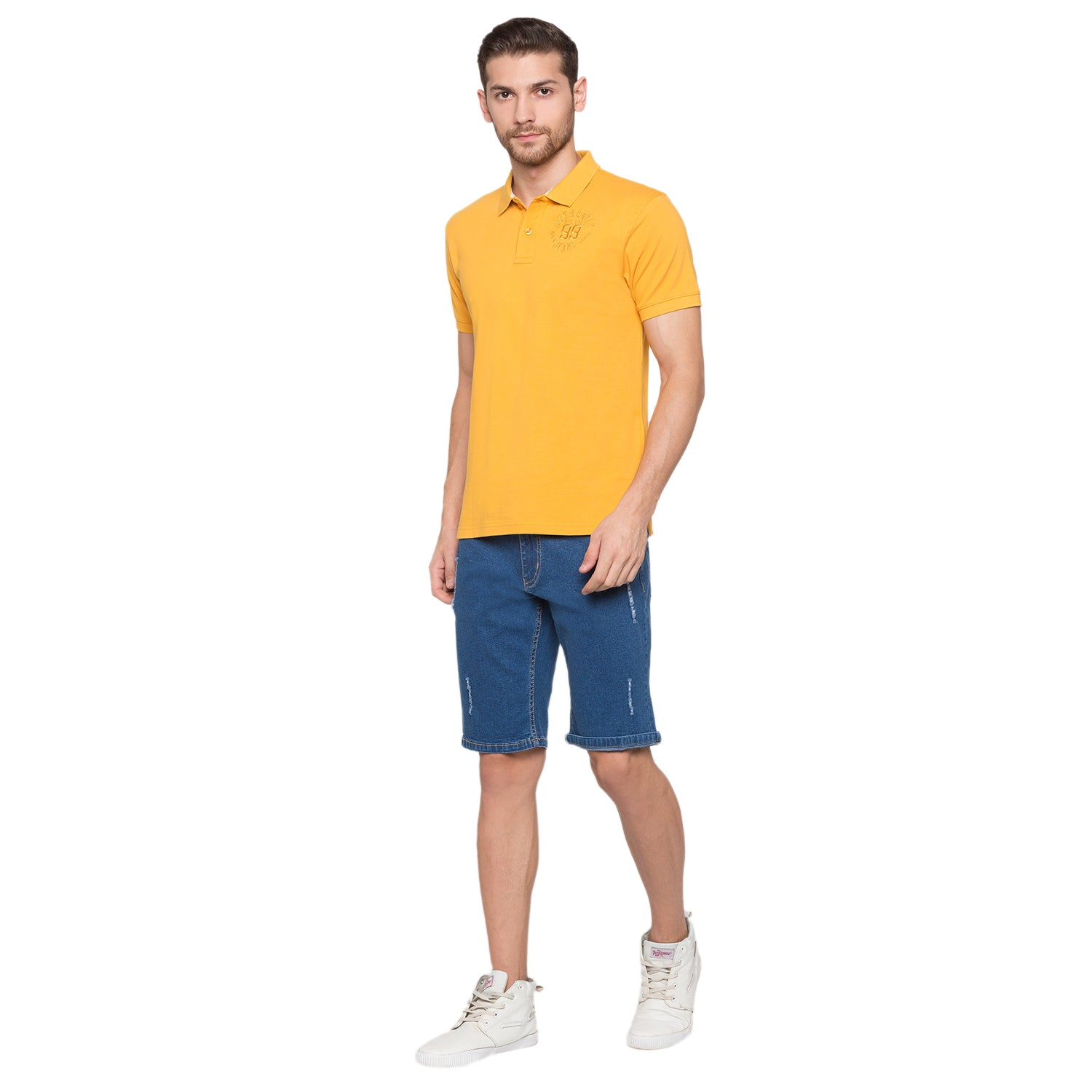 Globus Mustard Solid Polo T-Shirt4