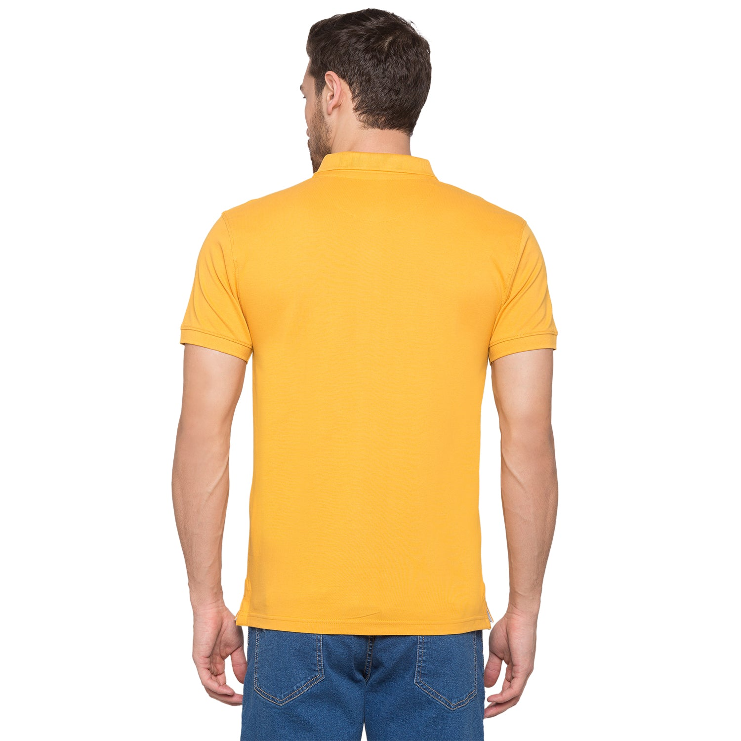 Globus Mustard Solid Polo T-Shirt3