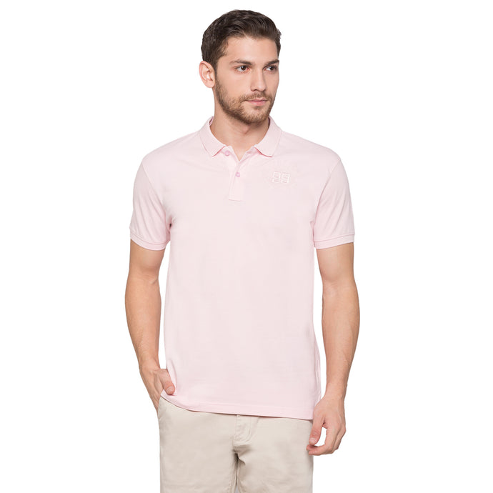 Globus Pink Solid Polo T-Shirt1