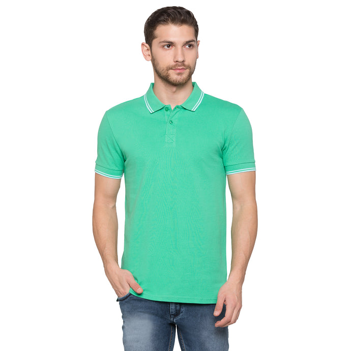 Globus Green Solid Polo T-Shirt1