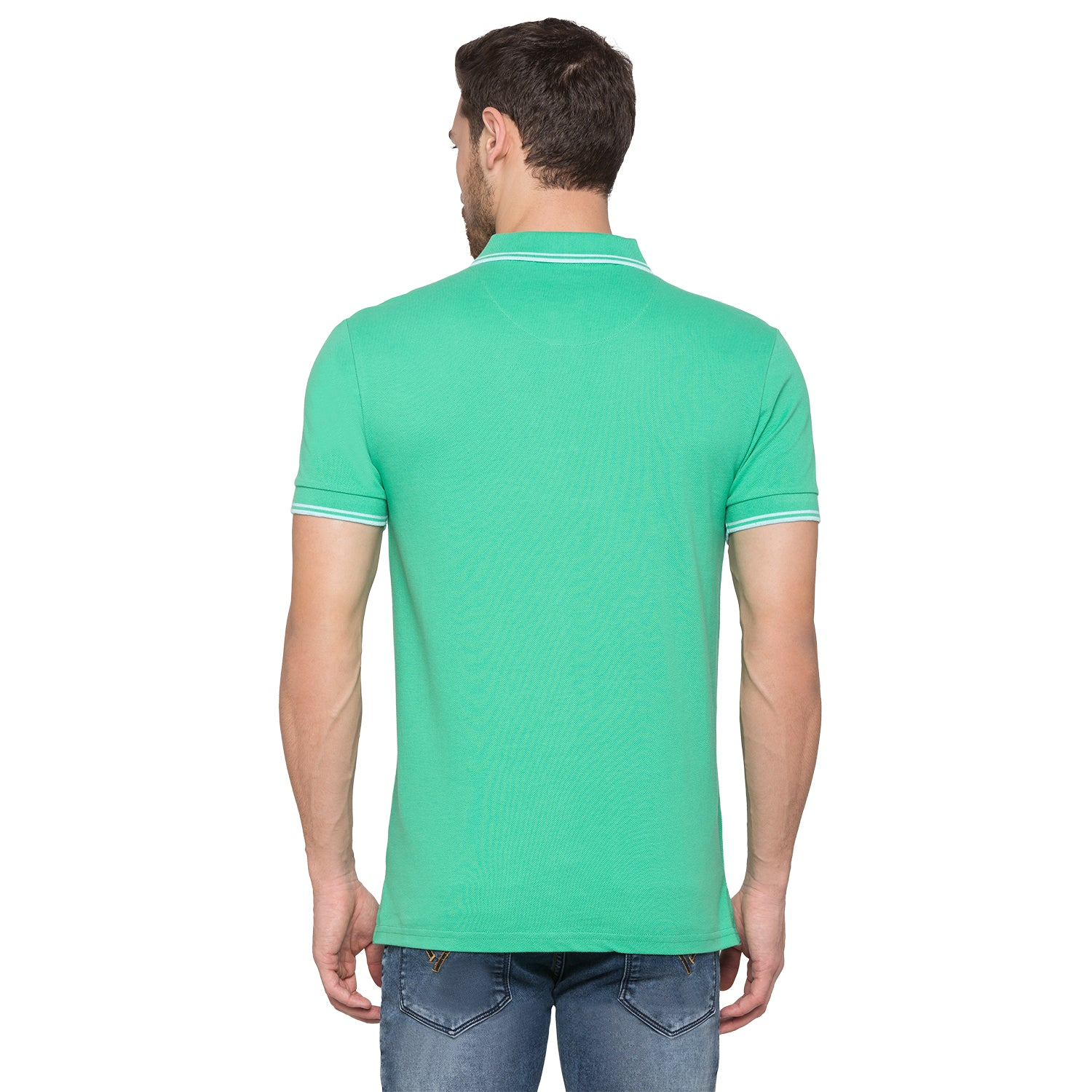 Globus Green Solid Polo T-Shirt3