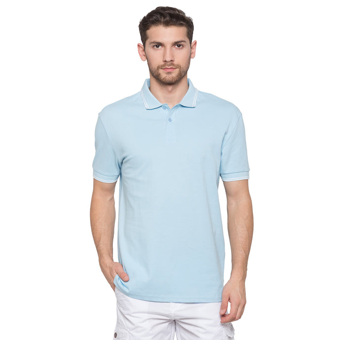 Globus Blue Solid Polo T-Shirt1
