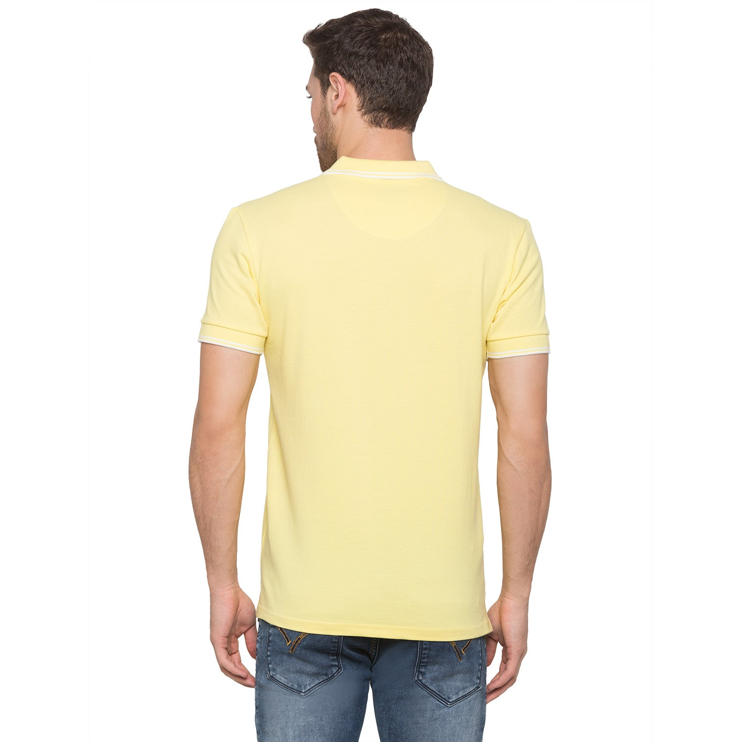 Globus Yellow Solid Polo T-Shirt3