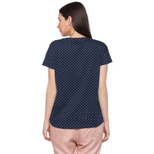 Load image into Gallery viewer, Globus Navy Blue Printed Top3