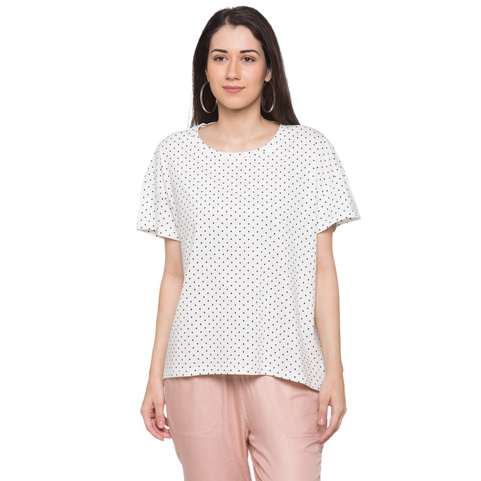 Globus White Printed Top1