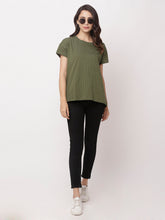 Load image into Gallery viewer, Globus Green Round Neck Printed Top-5