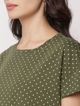 Load image into Gallery viewer, Globus Green Round Neck Printed Top-4