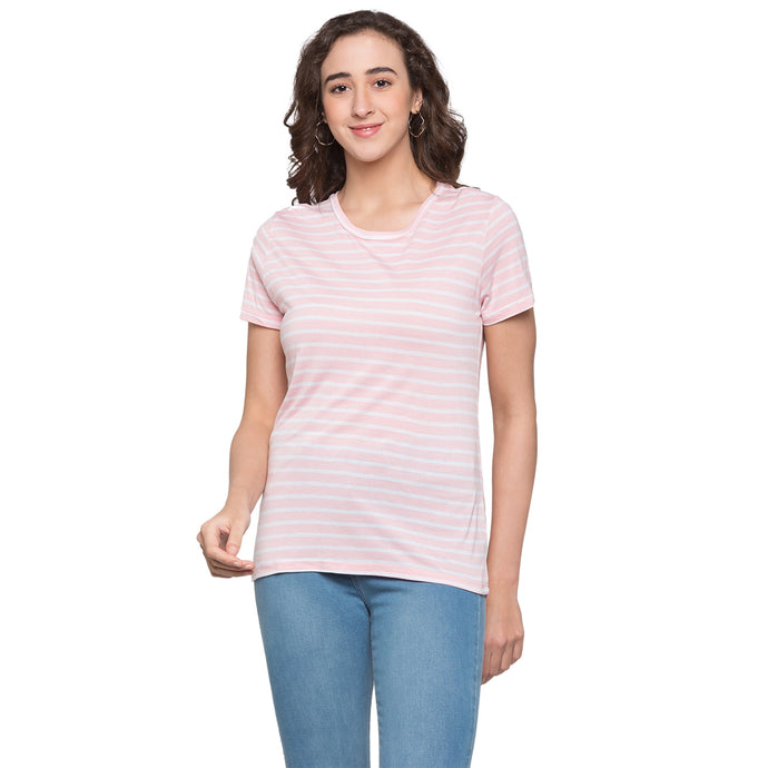 Globus Pink & White Striped Top1