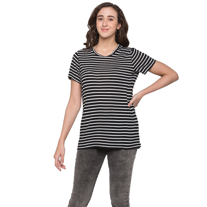 Globus Black & White Striped Top1