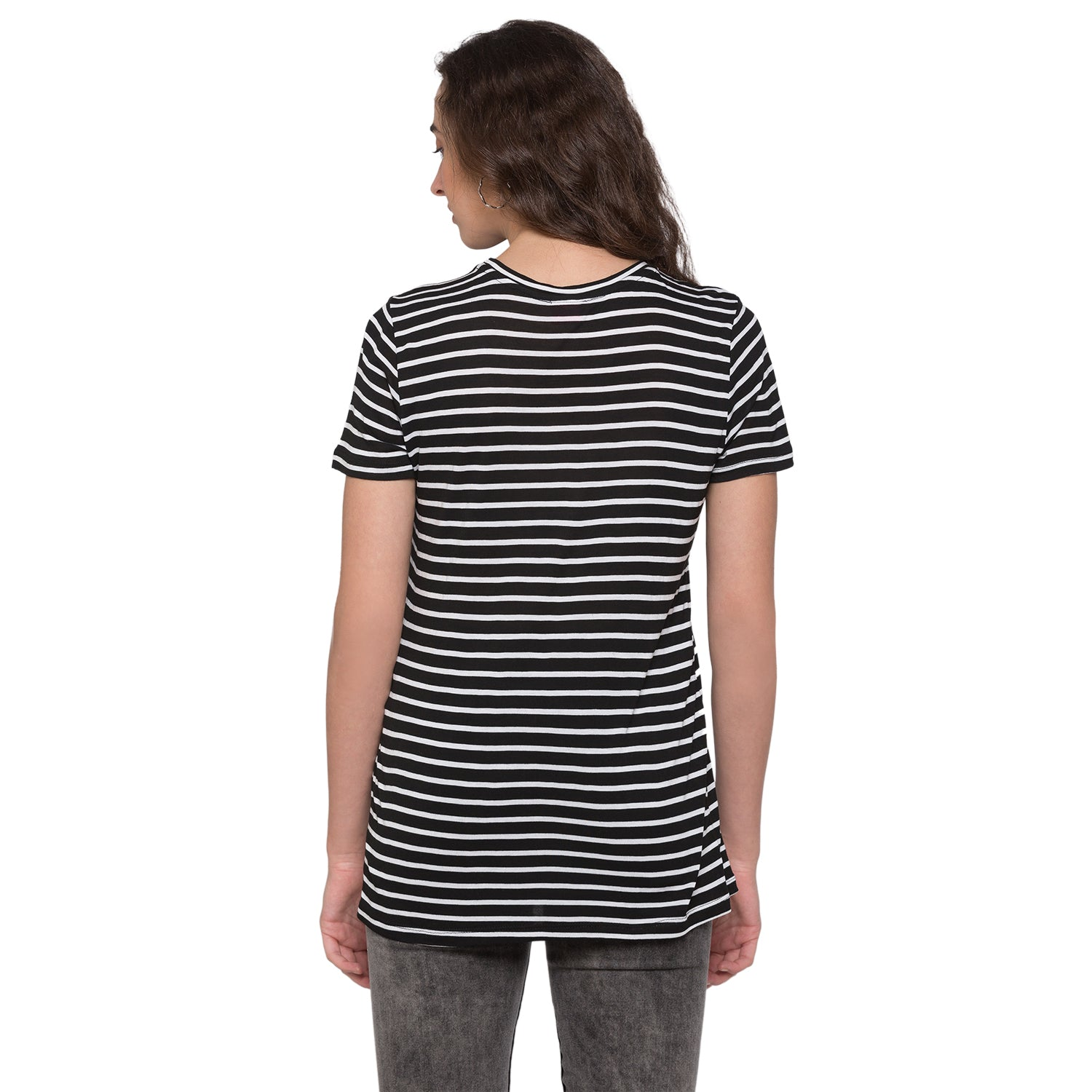 Globus Black & White Striped Top3