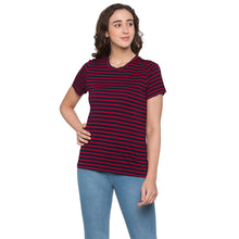 Load image into Gallery viewer, Globus Red & Navy Blue Striped Top1
