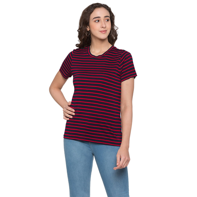 Globus Red & Navy Blue Striped Top1