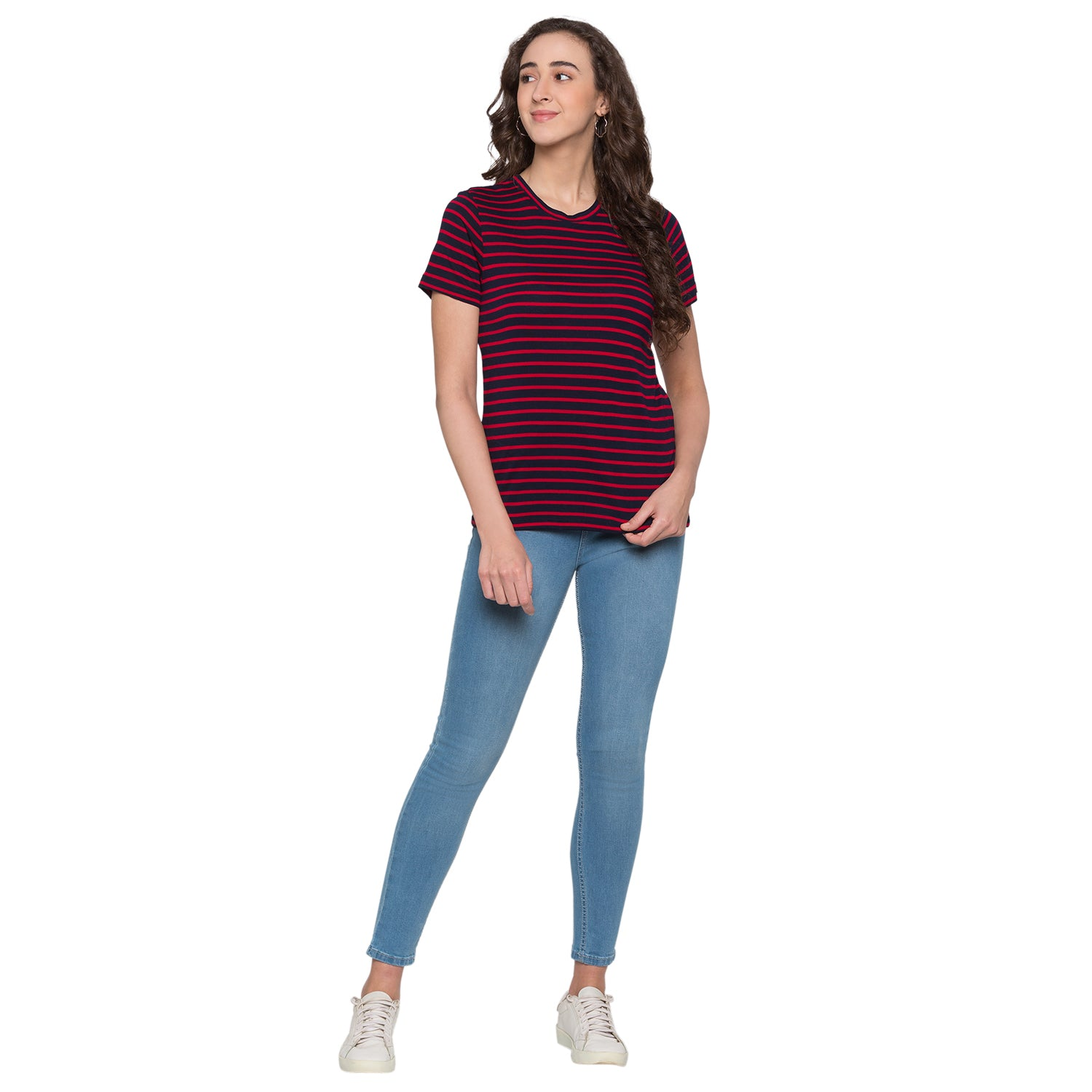 Globus Red & Navy Blue Striped Top4
