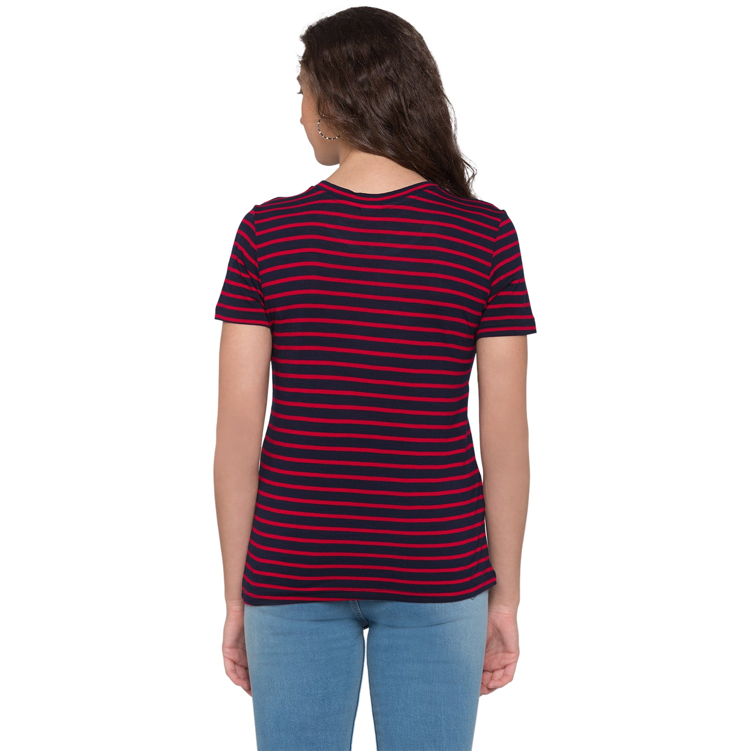 Globus Red & Navy Blue Striped Top3