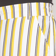 Load image into Gallery viewer, Mustard & White Striped Trousers-5