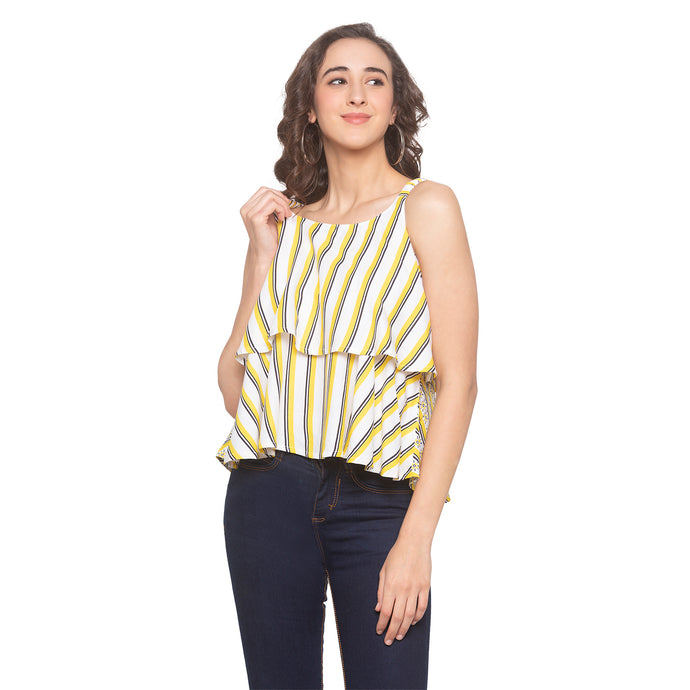 Mustard Striped Top-1