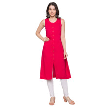 Load image into Gallery viewer, Globus Pink Solid Kurta-1