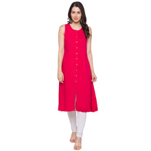 Load image into Gallery viewer, Globus Pink Solid Kurta-4
