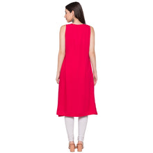 Load image into Gallery viewer, Globus Pink Solid Kurta-3