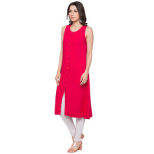 Load image into Gallery viewer, Globus Pink Solid Kurta-2
