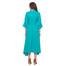 Load image into Gallery viewer, Teal Solid Dress-3
