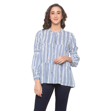 Load image into Gallery viewer, White Striped Top-1
