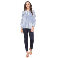 Load image into Gallery viewer, White Striped Top-4