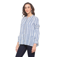 Load image into Gallery viewer, White Striped Top-2