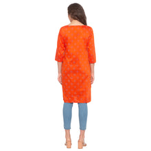 Load image into Gallery viewer, Orange Printed Kurta-3