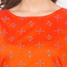 Load image into Gallery viewer, Orange Printed Kurta-5