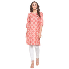Load image into Gallery viewer, Pink Printed Kurta-1