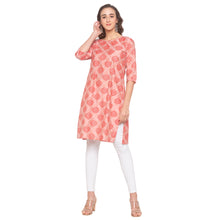 Load image into Gallery viewer, Pink Printed Kurta-4