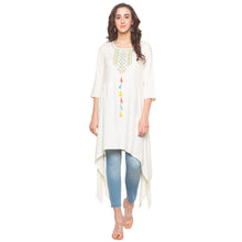Load image into Gallery viewer, White Solid Kurta-1