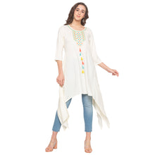 Load image into Gallery viewer, White Solid Kurta-4
