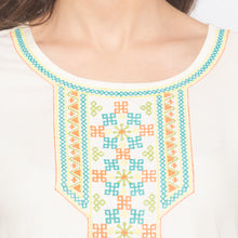 Load image into Gallery viewer, White Solid Kurta-5