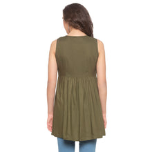 Load image into Gallery viewer, Olive Embroidered Tunic-3
