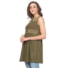 Load image into Gallery viewer, Olive Embroidered Tunic-2