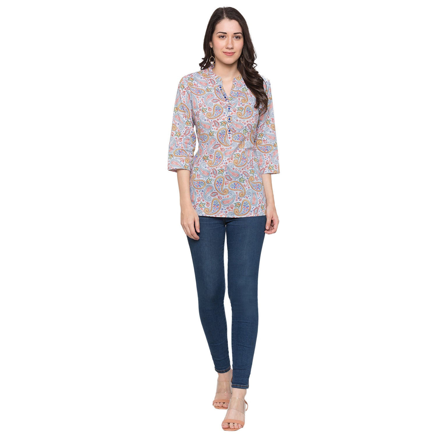 Globus Blue Printed Top-4