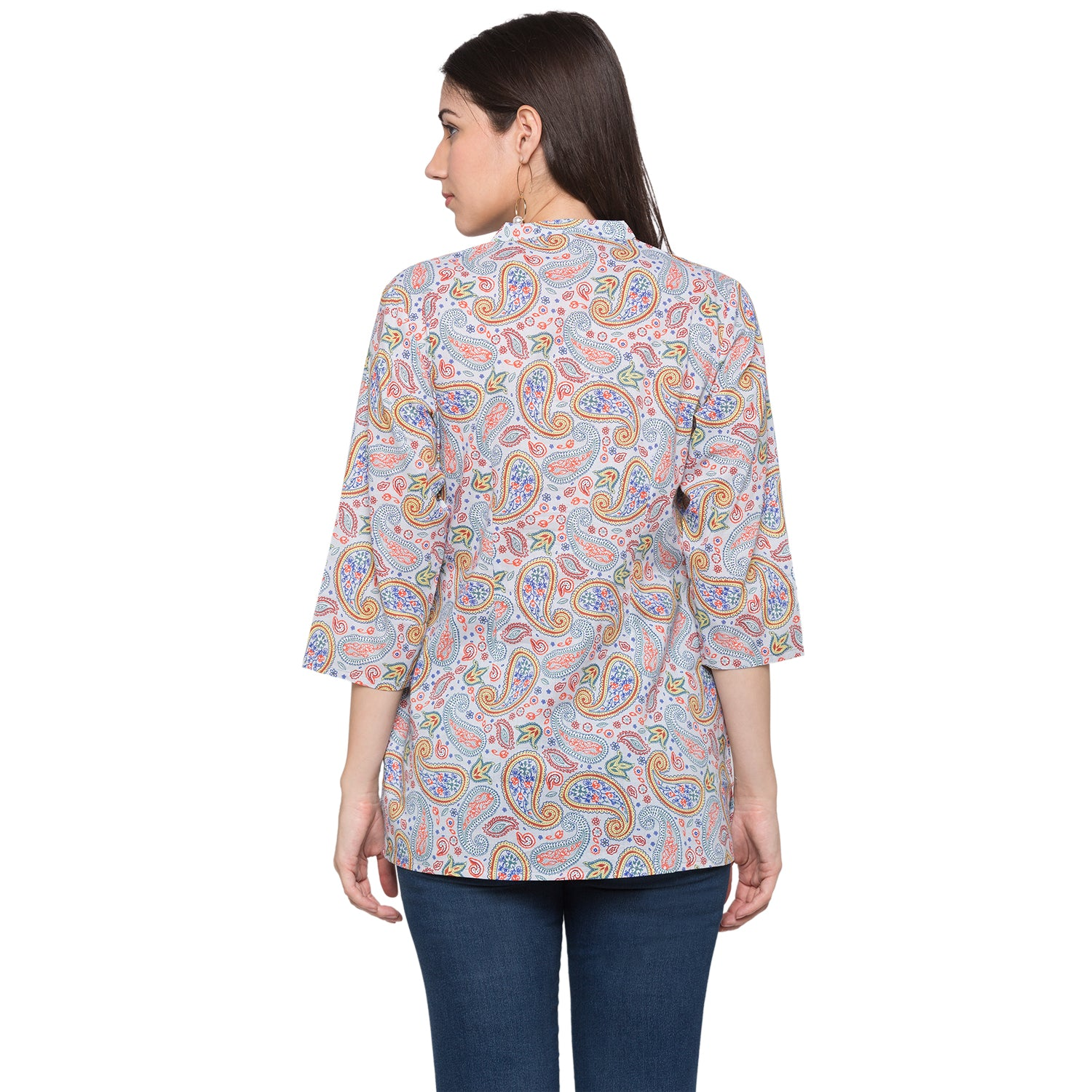 Globus Blue Printed Top-3