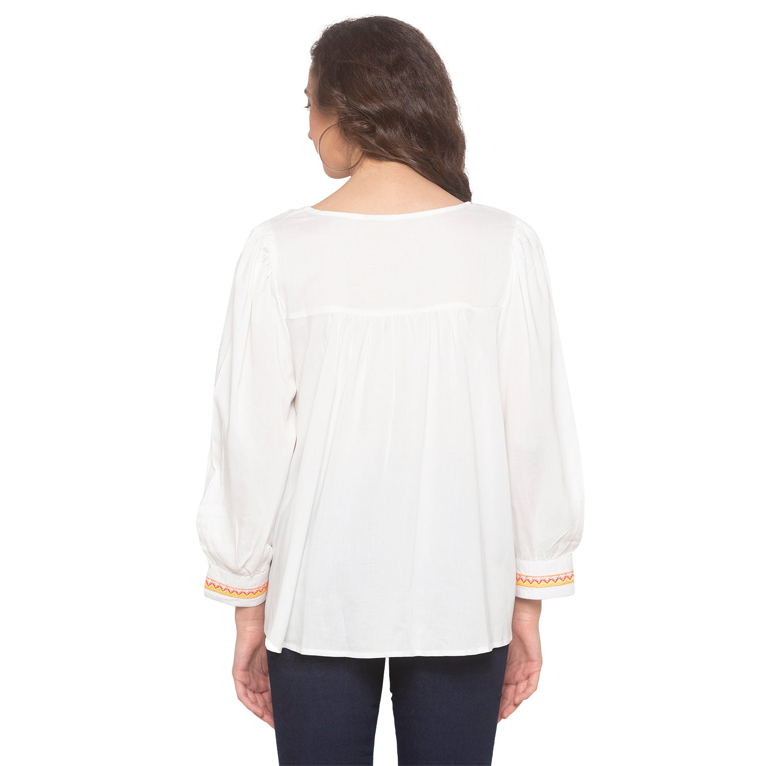 White Embroidered Top-3
