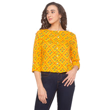 Load image into Gallery viewer, Mustard Printed Top-1
