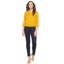 Load image into Gallery viewer, Mustard Printed Top-4