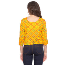 Load image into Gallery viewer, Mustard Printed Top-3