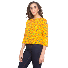 Load image into Gallery viewer, Mustard Printed Top-2