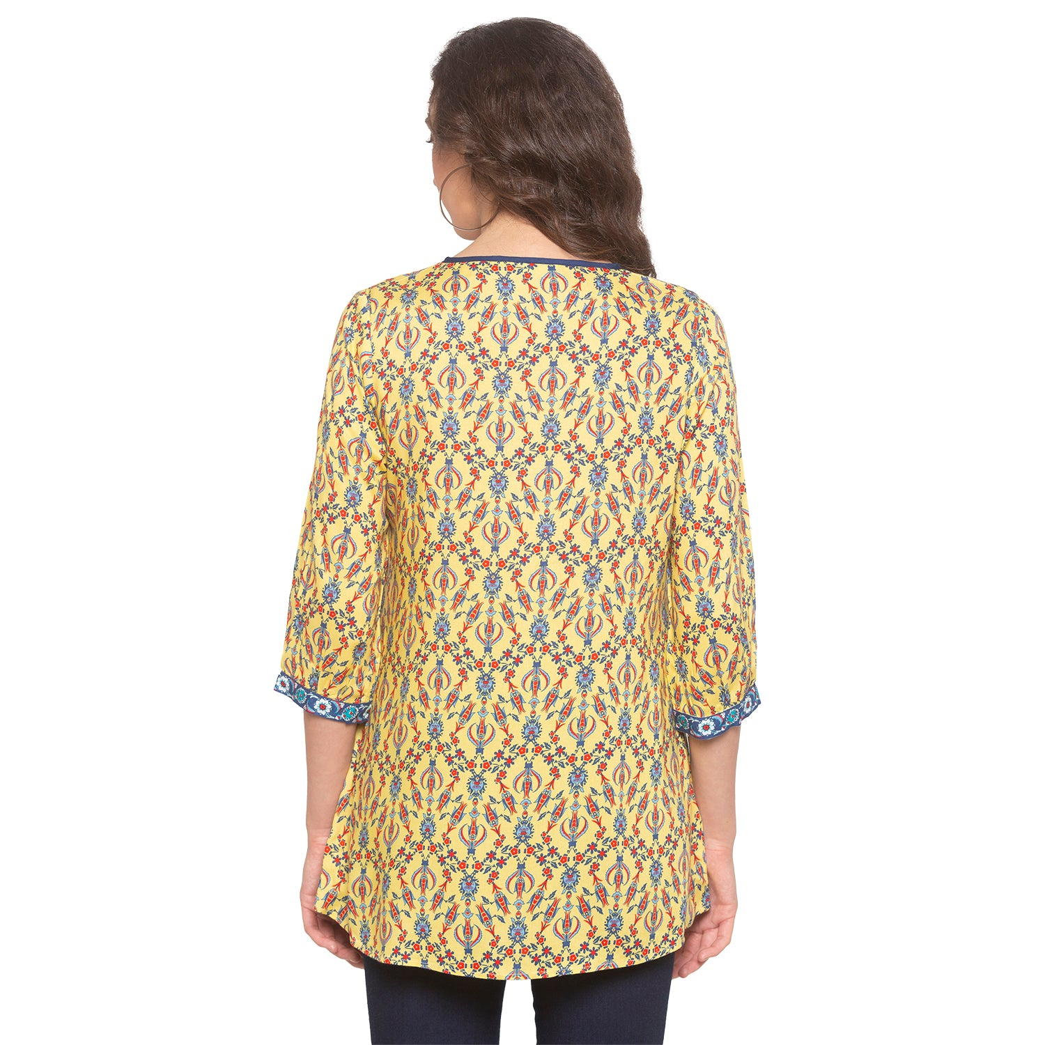 Yellow Printed Top-3